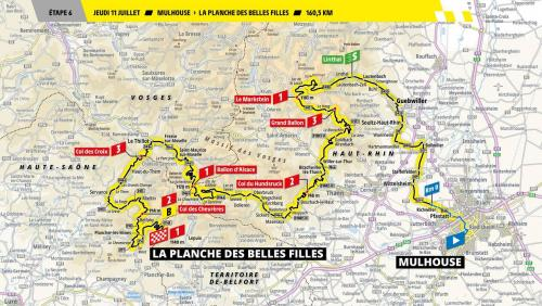 Tdf2019 6e etape mulhouse la planche des belles filles 157 km jeudi 11 juillet 2019
